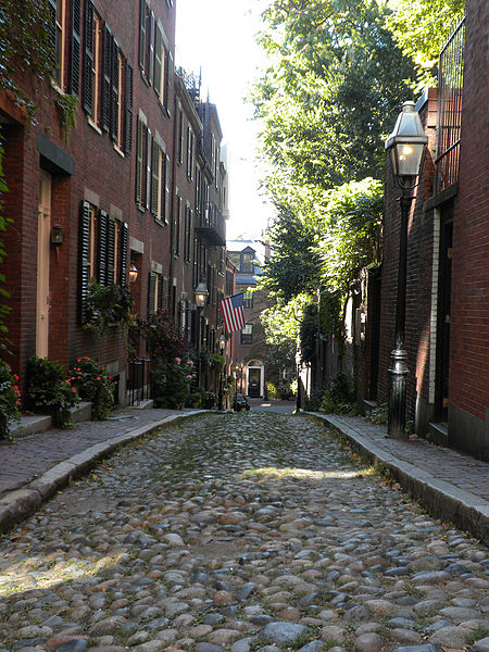 Boston's older neighborhoods have all kinds of winding and narrow streets.