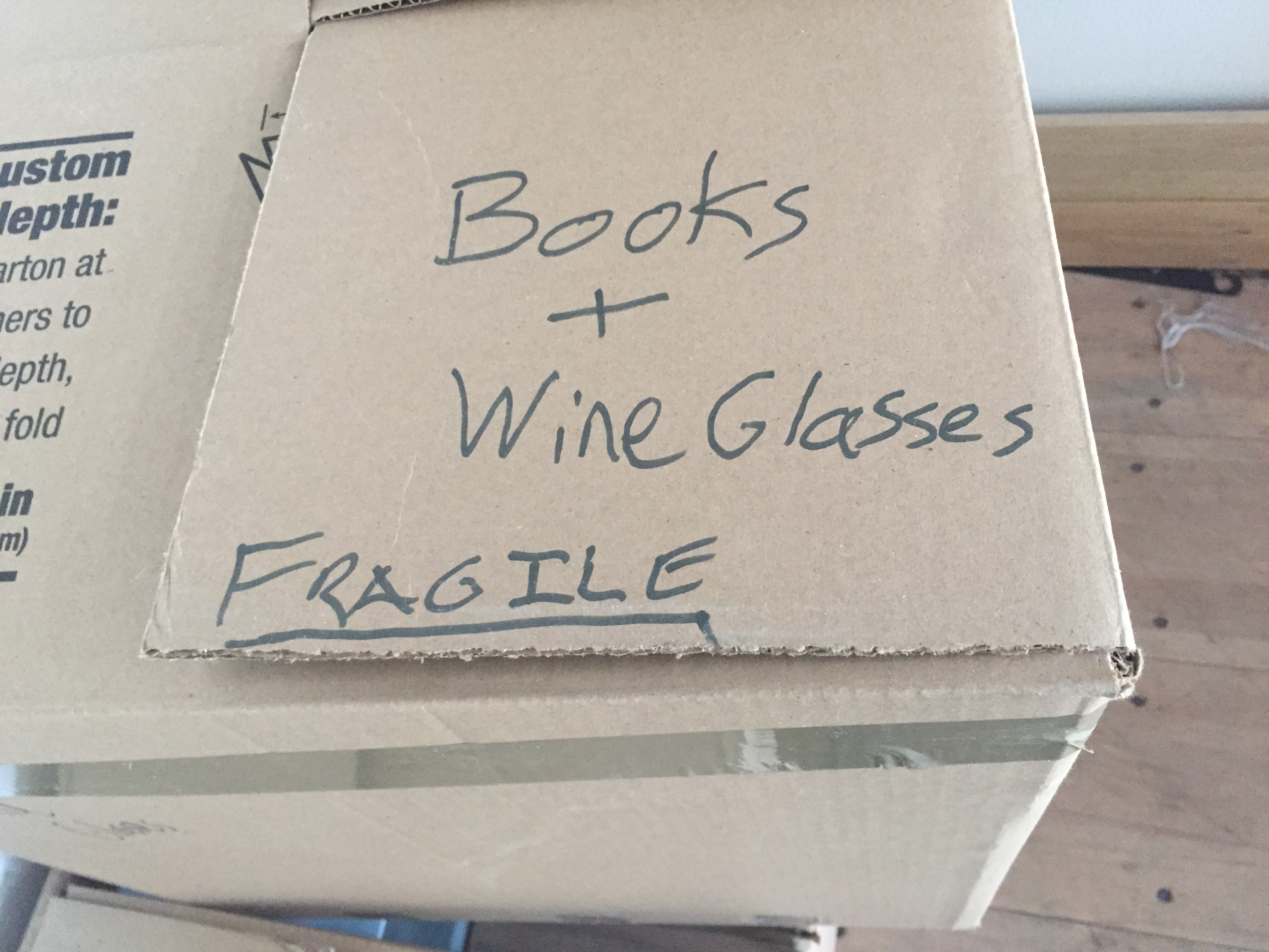 Keep books and fragile items separate during your move.