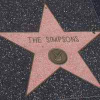 The Simpsons Walk of Fame Star, via Wikimedia Commons