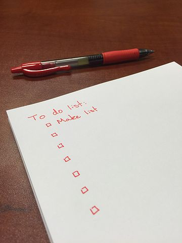 tips for moving - To-Do Lists can be very helpful ahead of moving day.