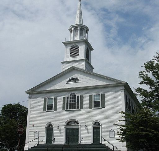 The First Parish in Westwood, MA was built in 1809.