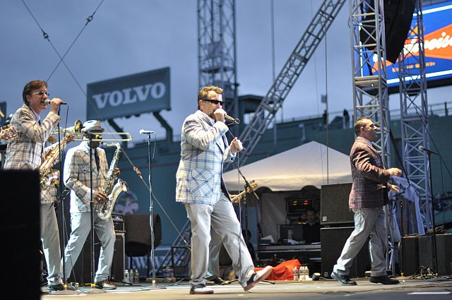 Westwood, MA native Dickey Barrett performs with the Mighty Might Bosstones at Fenway Park