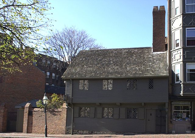 The Paul Revere House is one of many old houses in and around Boston