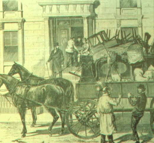 Our new premium horse-drawn moving truck